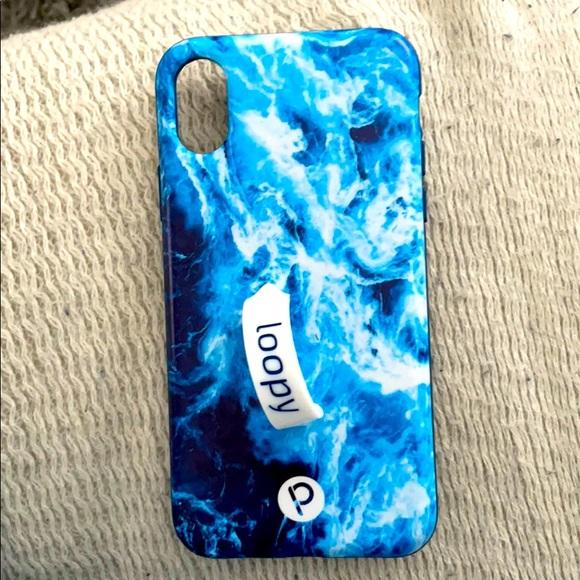 Loopy Ocean Blue iPhone X Case